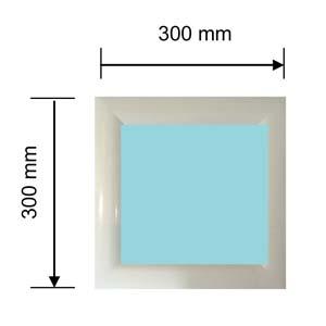hublot carré plastique
