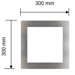 Hublot carré inox 300mm